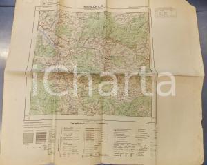 1959 Istituto Geografico Militare CARTA D'ITALIA - MENCONICO Foglio 71 *Mappa