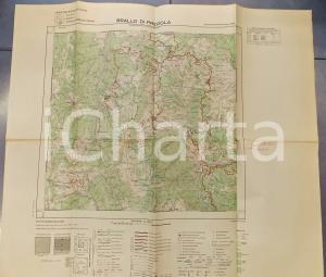 1959 Istituto Geografico Militare CARTA D'ITALIA - BRALLO DI PREGOLA *Mappa