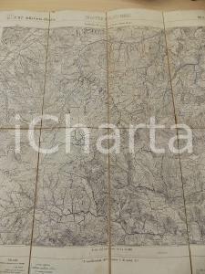 1892 Ist. Geografico Militare Carta d'Italia MONTEPASTORE *Mappa su tela 44x48