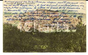 1923 RESUTTANO (CL) Veduta del paese *Cartolina al barone Alessandro MONTI