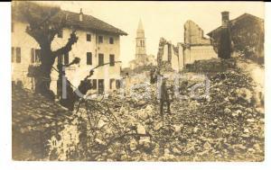 1917 WW1 BATTAGLIE DELL'ISONZO Scorcio di GORIZIA bombardata *Cartolina