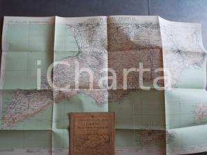 1930 TCI Carta zone turistiche d'Italia - SORRENTO, SALERNO e CAPRI Mappa 80x50