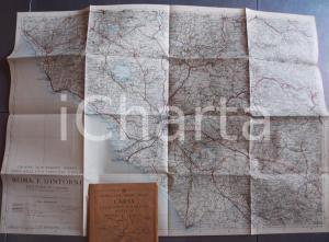 1931 TCI Carta delle zone turistiche d'Italia - ROMA e dintorni *Mappa 80x50 cm