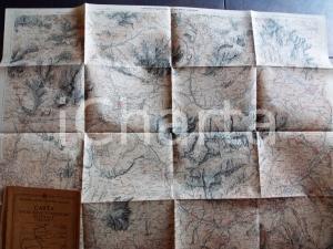 1930 ca TCI Carta zone turistiche d'Italia - CORTINA e le DOLOMITI Mappa 80x50