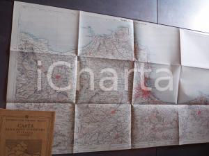 1930 ca TCI Carta zone turistiche d'Italia - PALERMO e Conca d'Oro *Mappa 80x50