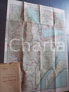 1935 TOURING CLUB ITALIANO Carta dell'Africa Orientale 60x80 cm *Custodia
