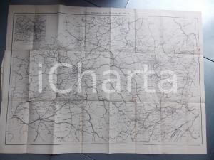 1930 ca Carta sommaria della guerra 1870-71 *Mappa F.LLI TREVES MILANO