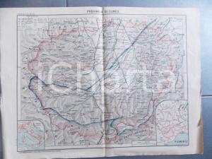 1922 PROVINCIA DI CUNEO Carta geografica ed. PARAVIA dis. Domenico LOCCHI