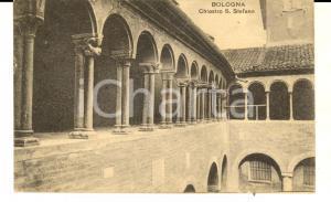 1921 BOLOGNA Veduta del chiostro di SANTO STEFANO *Cartolina postale FP VG