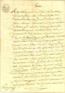 1819 GALLARGUES-LE-MONTUEUX (F) Fratelli BOISSIER vendono terra a Henri BERARD