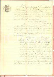 1883 GALLARGUES-LE-MONTUEUX Obligation Henri BERARD à veuve Léa BEDOS PAULET