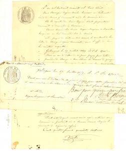 1860 CAVAIRAC (GARD, FRANCE) Lite mossa da  Eugène PAUT per saldo cambiale