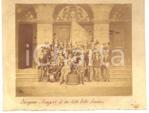 1910 ca LA ROCHE-SUR-FORON Musique Municipale - Les enfants *Photo RARE 19x15 cm