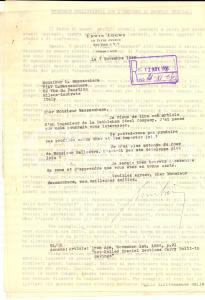 1956 NEW YORK Lettera Erwin LOEWY sull'uso dei profili laminati *Autografo