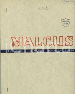 1949 HALMSTAD (S) Catalogue AB MALCUS HOLMQUIST Rectifieuses sans pointes 30 pp.