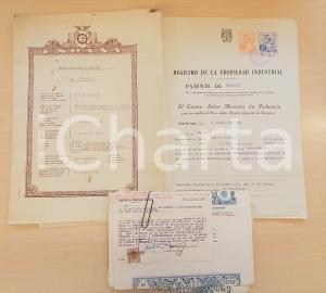 1954 ESPANA Brevetto di aggiunta alla patente di invenzione di Osvaldo BALESTRA