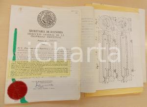 1953 MEXICO Brevetto industriale Osvaldo BALESTRA per forno anti-ossidazione