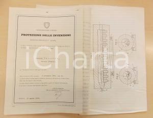 1958 SVIZZERA Brevetto invenzione Osvaldo BALESTRA per forno anti-ossidazione