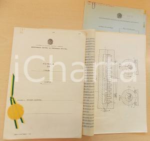 1957 BRASILE Brevetto invenzione Osvaldo BALESTRA per forno anti-ossidazione