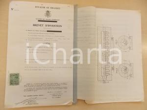 1954 BELGIO Brevetto invenzione Osvaldo BALESTRA per forno anti-ossidazione