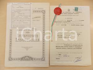 1954 ROMA Brevetto invenzione Osvaldo BALESTRA per forno anti-ossidazione