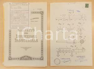 1955 ROMA Brevetto invenzione Osvaldo BALESTRA riscaldamento oggetti metallici