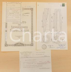 1956 ROMA Brevetto invenzione Osvaldo BALESTRA riscaldamento oggetti metallici