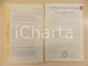 1955 ROMA Brevetto invenzione industriale Osvaldo BALESTRA - Domanda attestato