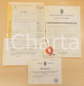 1958 NORVEGIA Brevetto invenzione Osvaldo BALESTRA per forno anti-ossidazione