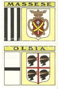 PANINI - CALCIATORI 1971 - 1972 Stemma U.S. MASSESE - OLBIA Calcio Figurina 68ab