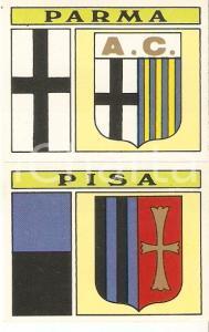 PANINI - CALCIATORI 1971 - 1972 Stemma A.C. PARMA - A.C. PISA Figurina 69ab