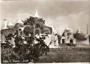 1954 SELVA DI FASANO (BR) Panorama con trulli *Cartolina FG VG