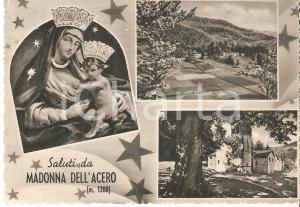 1961 LIZZANO IN BELVEDERE (BO) Vedutine con Madonna dell'ACERO *Cartolina FG VG