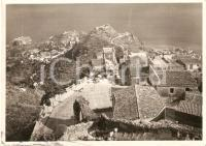 1960 CASTELMOLA (ME) Veduta con TAORMINA - Vineria BLANDANO *Cartolina FG VG