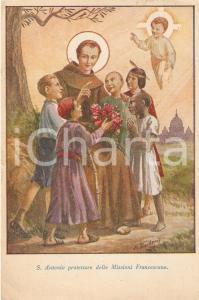 1955 ca ROMA Sant'Antonio protettore delle Missioni Francescane *Cartolina FG VG