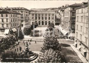 1950 ANCONA Veduta di Piazza Roma *Cartolina FG VG