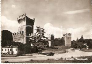 1955 ca ESTE (PD) Auto in sosta davanti al Castello Marchionale *Cartolina FG NV