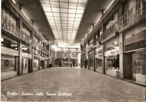 1961 BIELLA Interno della Nuova Galleria - Negozio PAVISA *Cartolina FG VG
