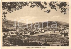 1952 CAGLI (PU) Panorama visto da levante *Cartolina FG VG