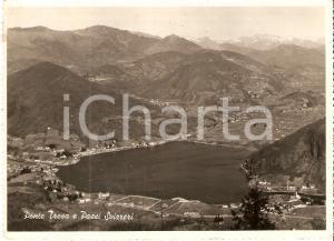 1958 LAVENA PONTE TRESA (VA) Panorama con paesi svizzeri *Cartolina FG VG