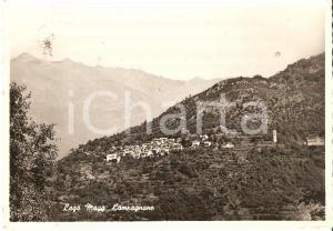 1953 MACCAGNO CON PINO E VEDDASCA (VA) Frazione di CAMPAGNANO *Cartolina FG VG