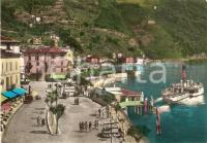 1962 ARGEGNO (CO) Panorama con traghetto e albergo *Cartolina FG VG