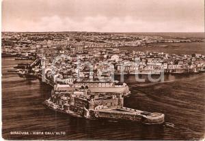 1950 SIRACUSA La città vista dall'alto *Cartolina FG VG