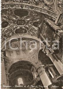 1955 ca BERGAMO Basilica Santa Maria Maggiore - Interno *Cartolina FG VG