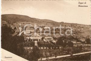 1940 BAGNI DI CHIANCIANO (BG) Panorama *Cartolina FG VG