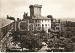 1963 PIANCASTAGNAIO (SI) Giardini pubblici e Rocca *Cartolina FG VG