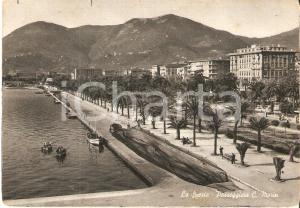 1950 ca LA SPEZIA Rete da pesca stesa sulla Passeggiata MORIN *Cartolina FG VG