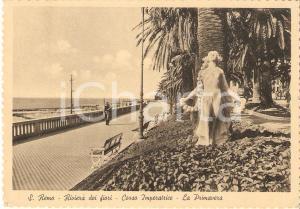 1950 ca SANREMO (IM) Corso Imperatrice e statua della Primavera *Cartolina FG VG