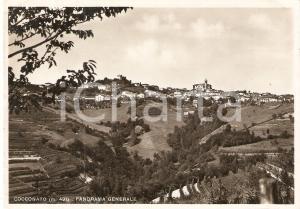 1939 COCCONATO (AT) Panorama generale del paese *Cartolina FG VG