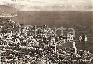 1957 CAPRI (NA) Punta CETRELLA e faraglioni *Cartolina FG VG